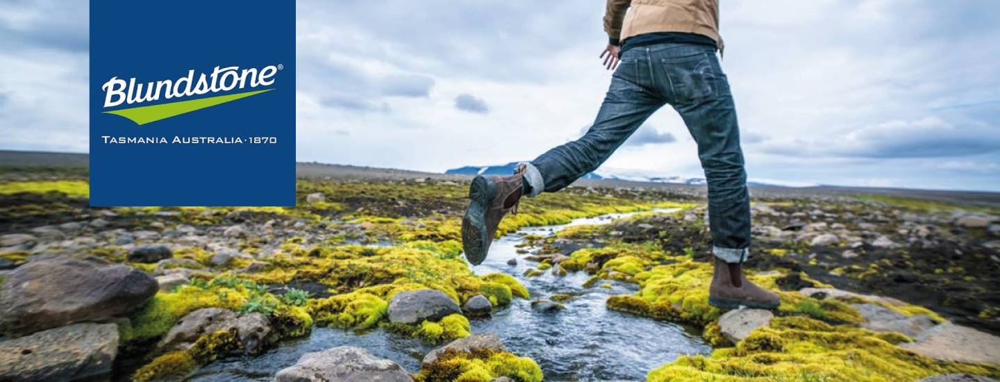 Skipping in blundstone boots